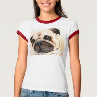 Camisa do Pug do amor Camiseta