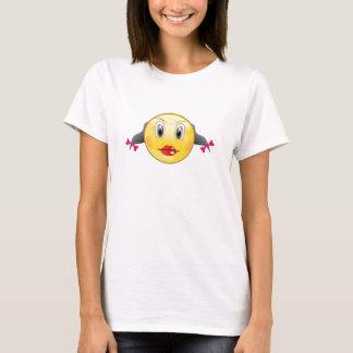 Camisa do smiley da menina