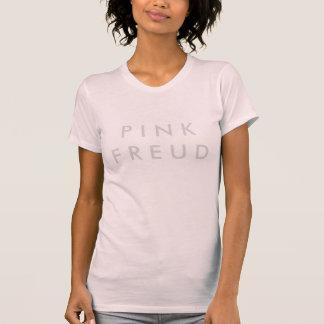 Camisa do T das mulheres cor-de-rosa de Freud