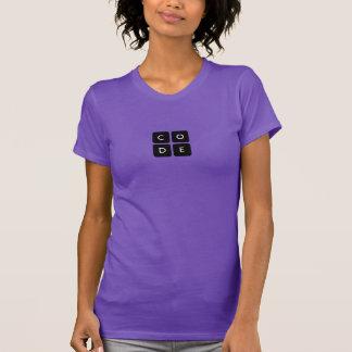 camisa do T das mulheres de Code.org