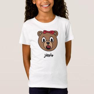 Camisa do urso da menina