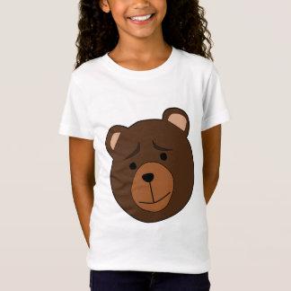 Camisa do urso T das meninas - camisa engraçada