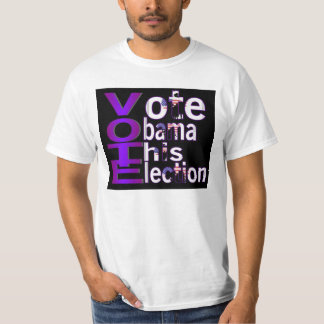 Camisa do valor do VOTO 2012 Camisetas