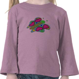 Camisa dos corações da borboleta tshirts