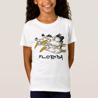 Camisa dos pelicanos de Florida das meninas