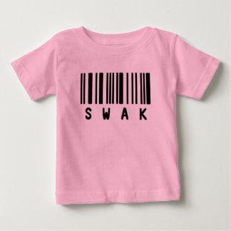 Camisa engraçada bonito SWAK do rosa de bebê T Camiseta