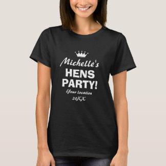 Camisa engraçada da noite t do partido de galinhas