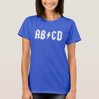 Camisa engraçada das senhoras da paródia de ABCD