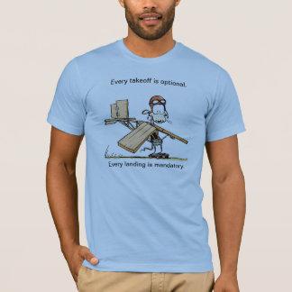 Camisa engraçada do humor da aviação da decolagem