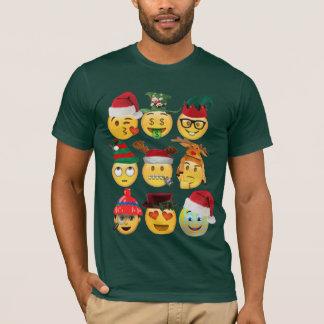 camisa engraçada do Natal da coleção do emoji do