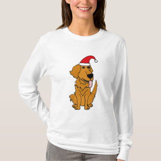 Camisa engraçada do Natal do golden retriever