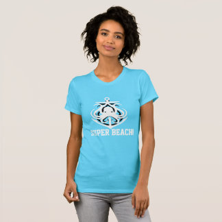 Camisa engraçada do polvo da âncora da praia super t-shirts