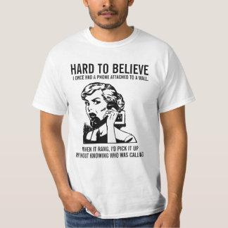 Camisa engraçada do telefone do vintage tshirts