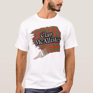 Camisa escocesa da pintura do Tartan de McAllister