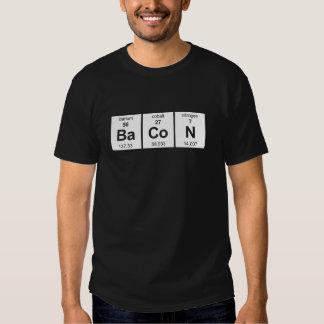 Camisa escura básica do bacon tshirts