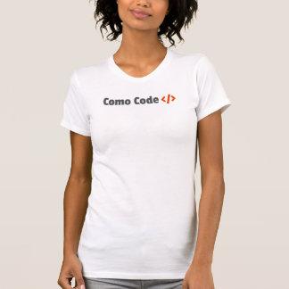 Camisa faz o código Feminina de Como Camisetas