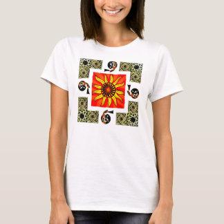 Camisa frente e verso da mandala de Sun do céltico
