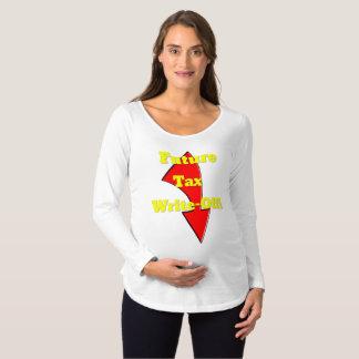 Camisa futura da maternidade da amortização do