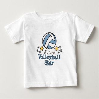 Camisa futura do bebê T da estrela do voleibol