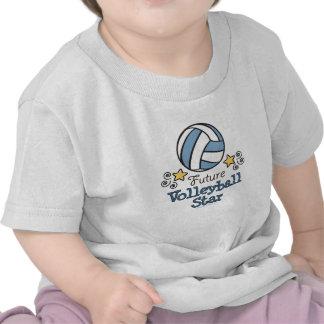 Camisa futura do bebê T da estrela do voleibol T-shirts