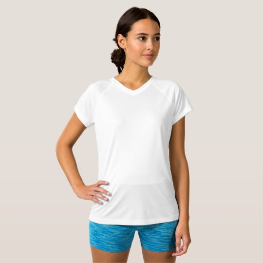 Camiseta Feminina Double Dry Training, Gola V , Branco