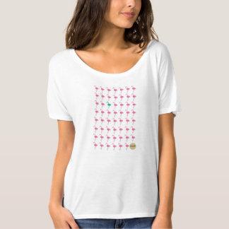 camisa impar do fluxo do flamingo camiseta