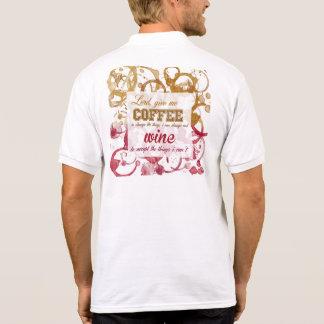 Camisa inspirador do divertimento do café e do camisa polo