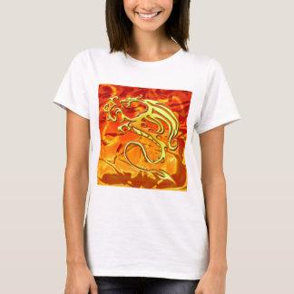 Camisa leve das senhoras do dragão do fogo