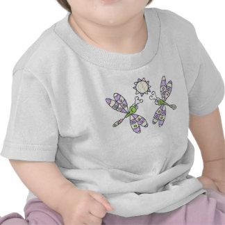 Camisa libélulas & da criança & da criança tshirts