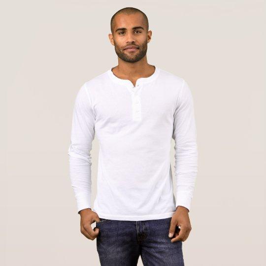 Camisa masculina de mangas compridas Henley da Bella+Canvas, Branco