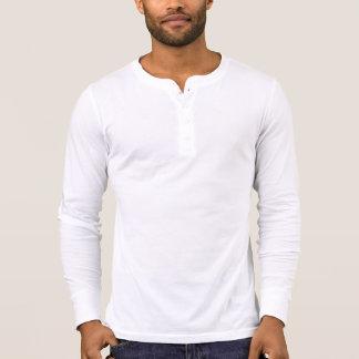 Camisa longa da luva de Henley das canvas dos T-shirt