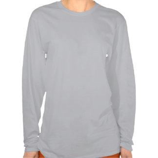 Camisa longa da luva do boneco de neve para camiseta