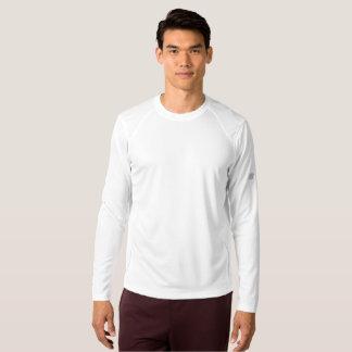 Camisa longa da luva do equilíbrio novo dos homens