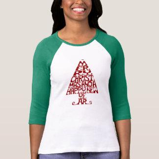 Camisa longa da luva T das mulheres da árvore do