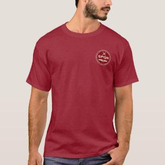 Camisa marrom & branca da legião romana de SPQR do