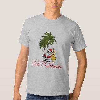 Camisa-Mele Kalikimaka/Feliz Natal do feriado dos Camiseta