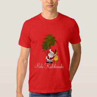 Camisa-Mele Kalikimaka/Feliz Natal do feriado dos Camisetas