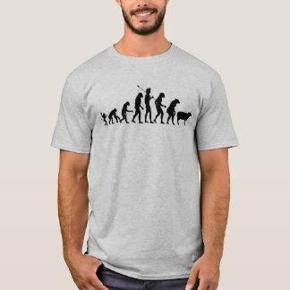 Camisa moderna da evolução camiseta