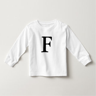 Camisa monogrammed inicial da letra F t