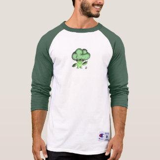 Camisa orgânica do basebol dos brócolos de Bob do