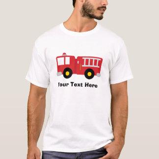 Camisa personalizada do carro de bombeiros T