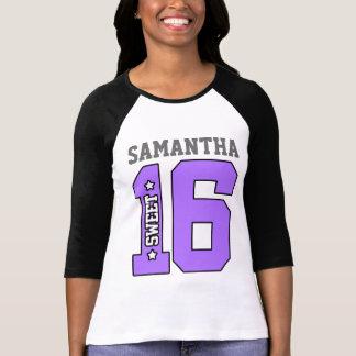 Camisa personalizada do doce dezesseis