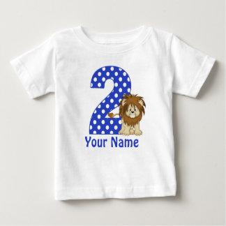 Camisa personalizada leão do segundo aniversário t-shirt