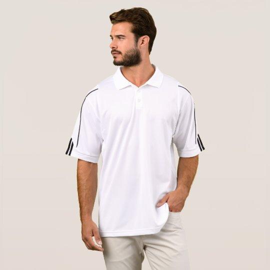 Camisa Polo Masculina Adidas Golf  ClimaLite® , Branco/Preto