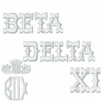 Camisa pólo BETA, DELTA, XI, BDX Camiseta Bordada Polo