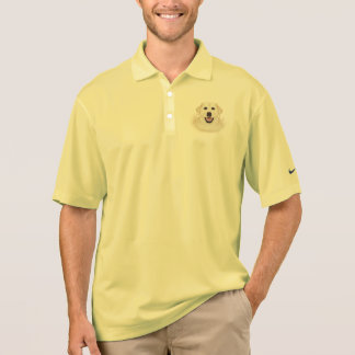 Camisa Polo desenhos animados amarelos de labrador retriever