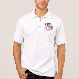 Camisa Polo Eu visto o rosa para meu cancro da mama da mamã 10