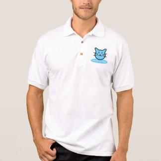 Camisa Polo Pólo do gato de azuis bebés