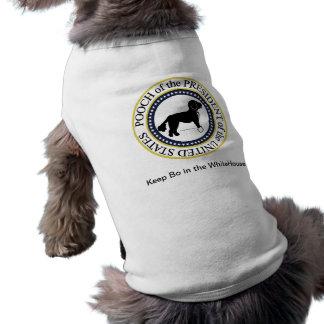 Camisa presidencial do Doggy do selo do cão Camisa Sem Mangas Para Cachorro