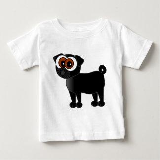 Camisa preta bonito do Pug T-shirt